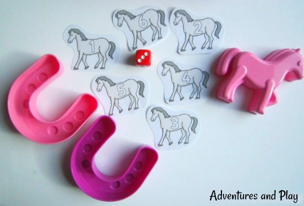 Preschool horse counting game