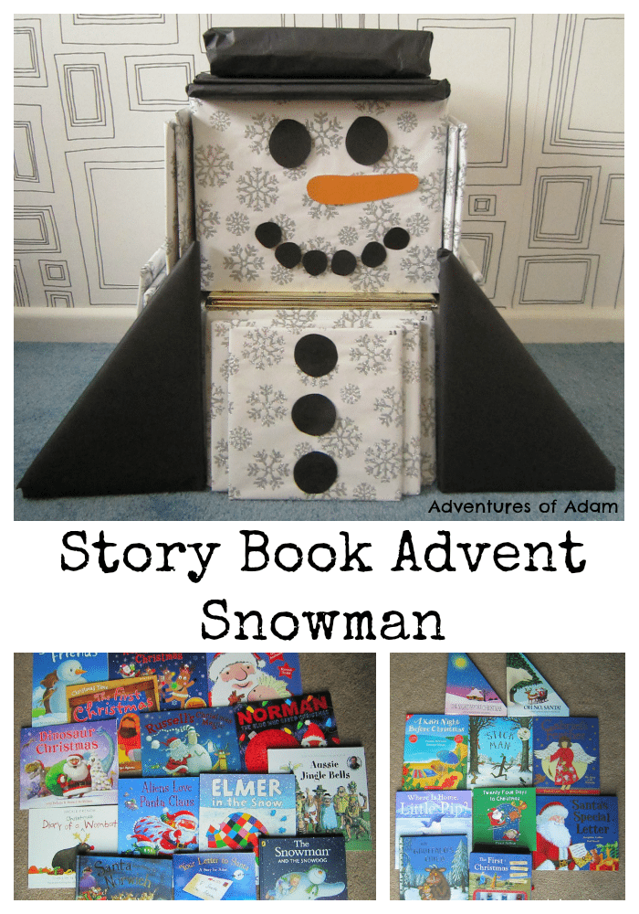 Story Book Advent Snowman