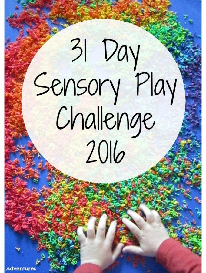 Adventures of Adam 31 Day Sensory Play Challenge 2016