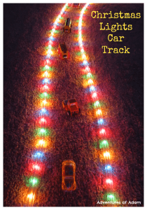Christmas Lights Car Track