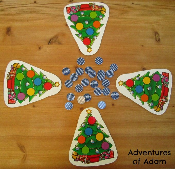 Colour Christmas Tree Game from Orchard Toys