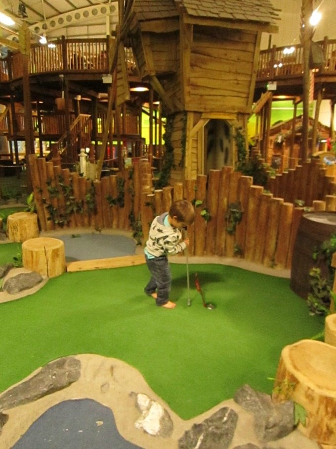 Crazy golf at Bluestone
