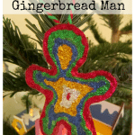 Glitter Glue Gingerbread Man Decoration