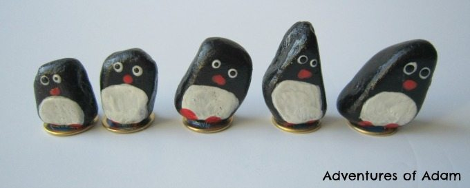 Homemade magnetic penguins