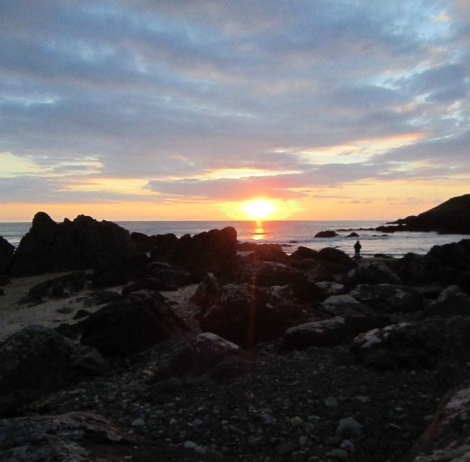 Sunset at Freshwater West Beach