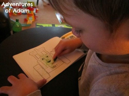 Toddler colouring in book