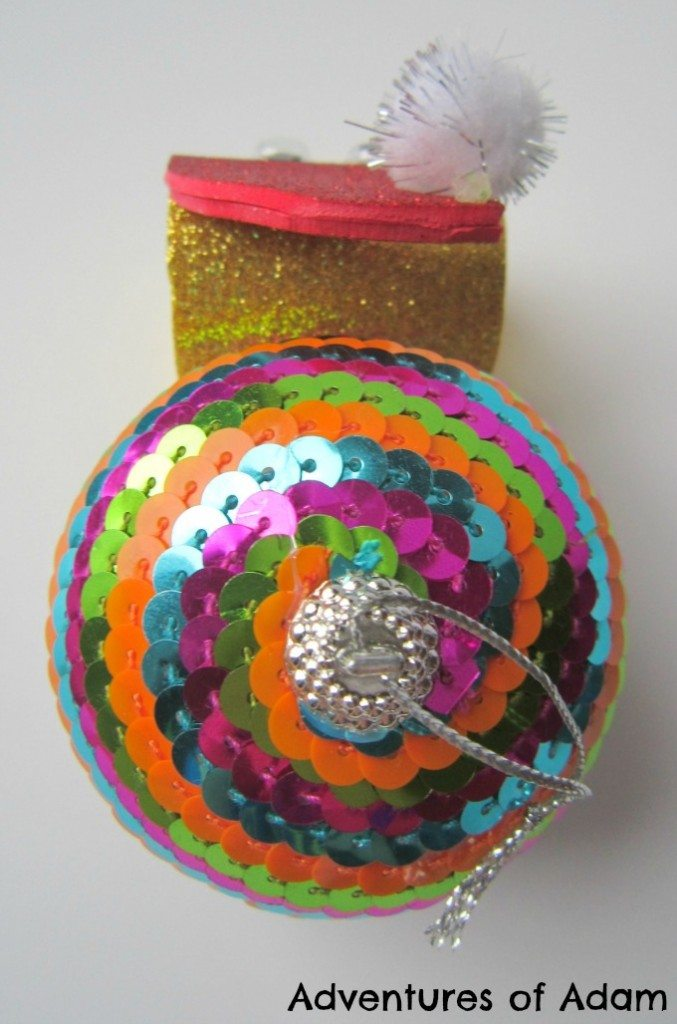 Toddler made Christmas bauble