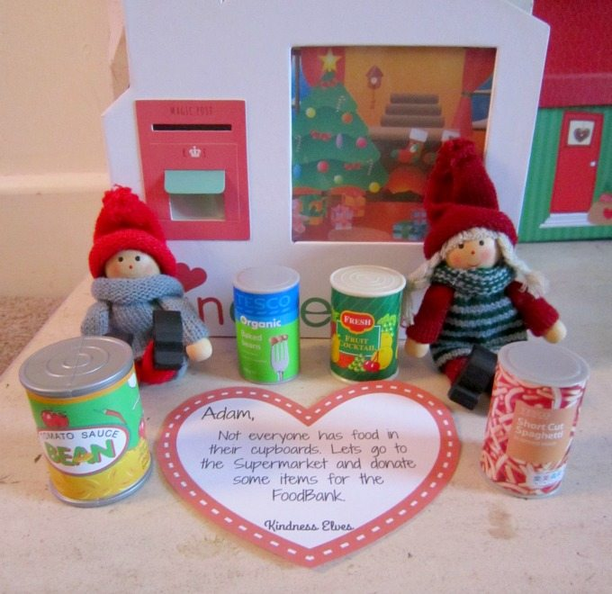 Kindness elves visiting the food bank