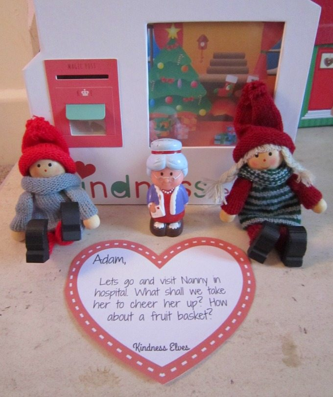 Kindness Elves visiting nanny in hospital