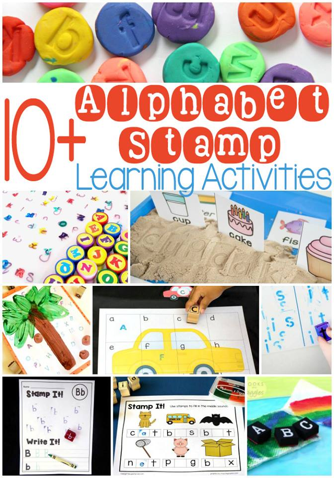 Alphabet stamp learning activities