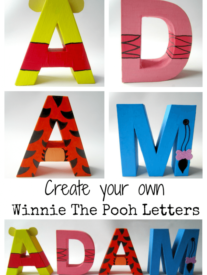 Create your own Winnie The Pool Letters
