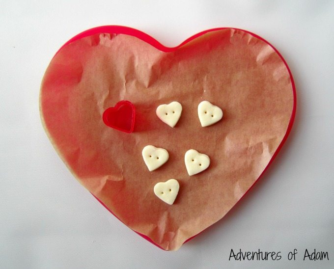 DIY heart shape clay