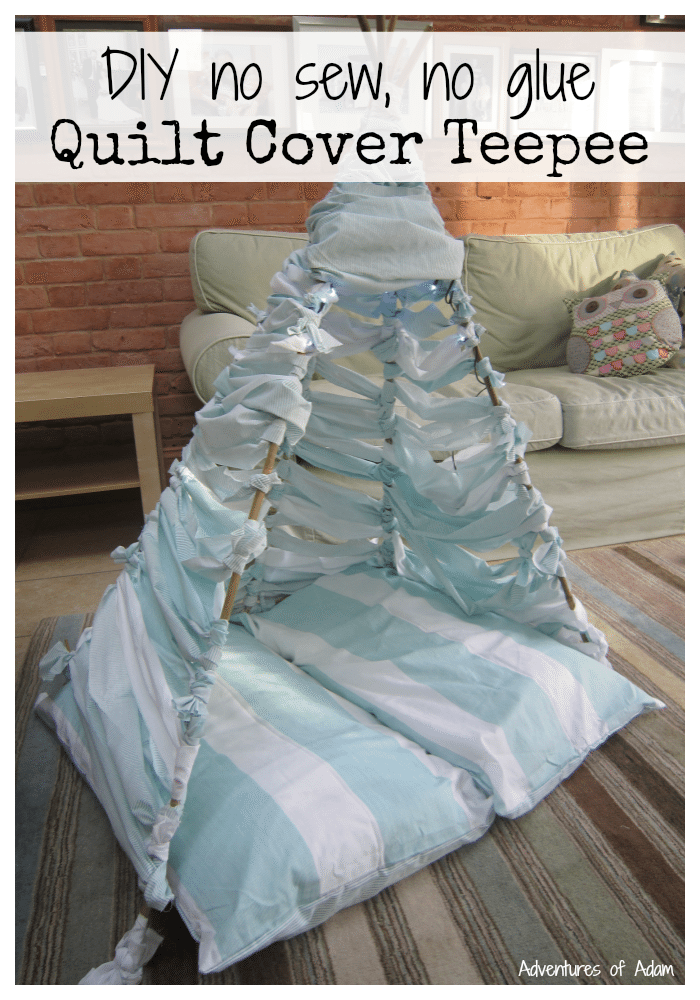 DIY no sew no glue quilt cover teepee