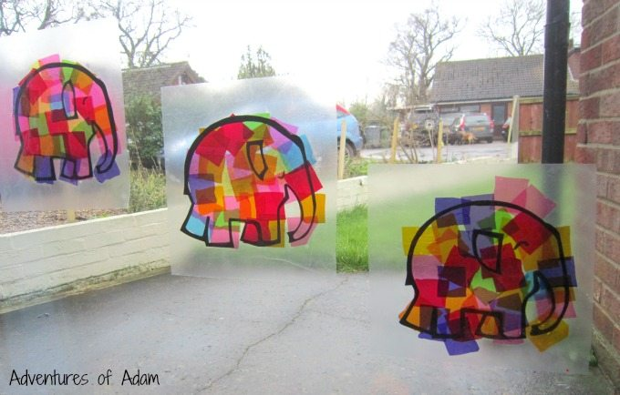 Elmer the Elephant window art