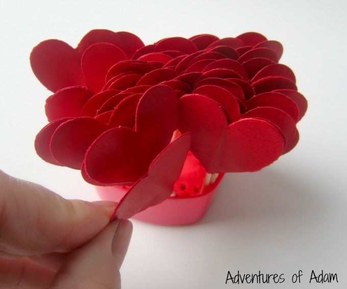 Heart cake toppers for fine motor skills