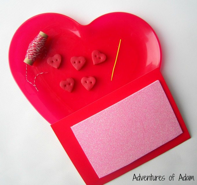 Make a Valentine's Day heart button card