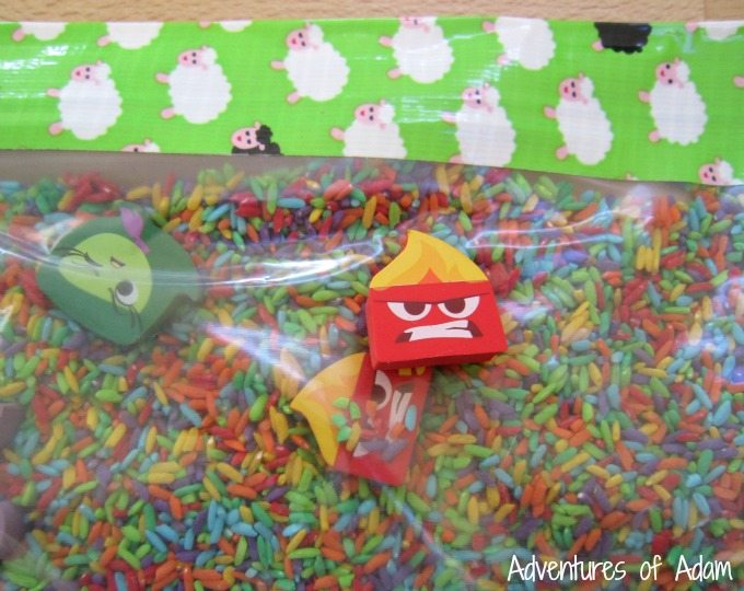 Matching emotions sensory bag