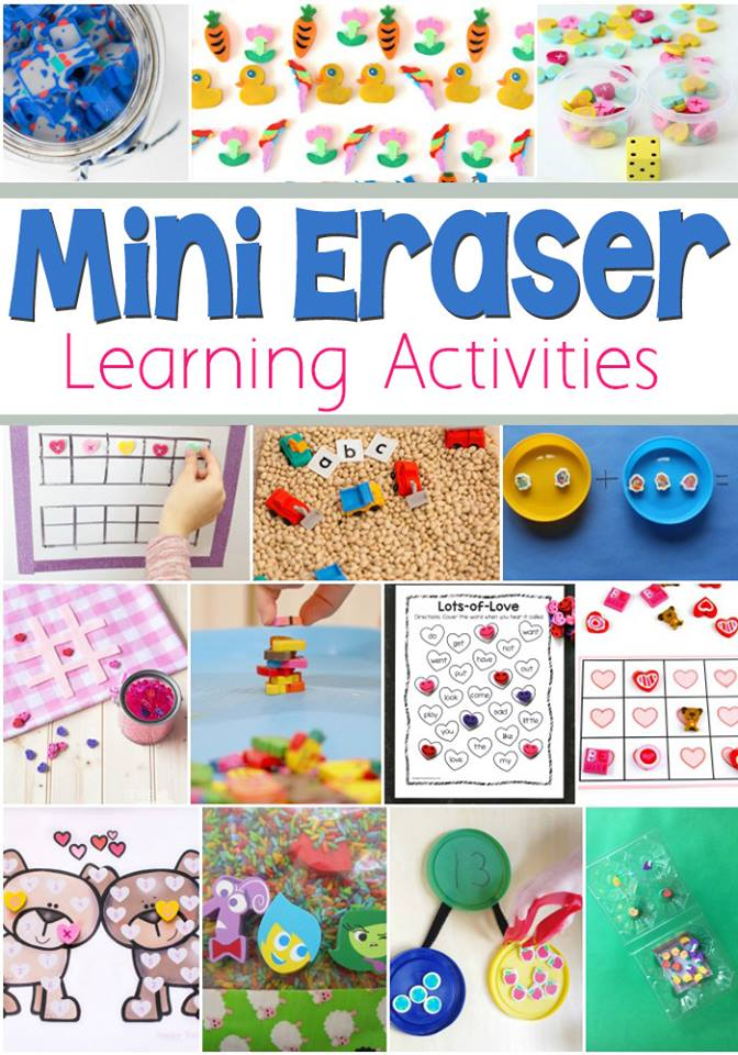 Mini eraser learning activities