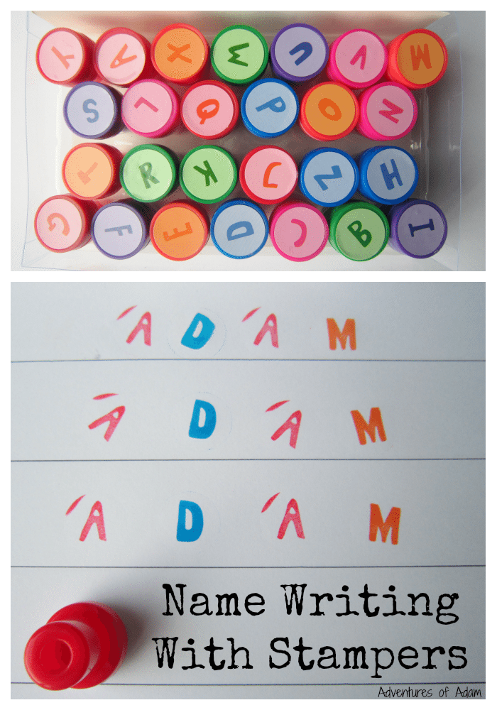Name Writing With Stampers