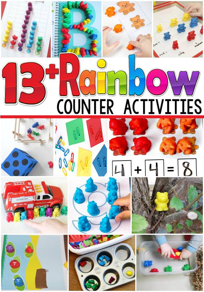 Rainbow Counter Activities