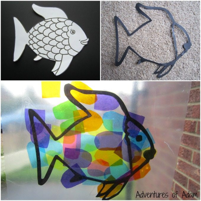 Rainbow Fish window art