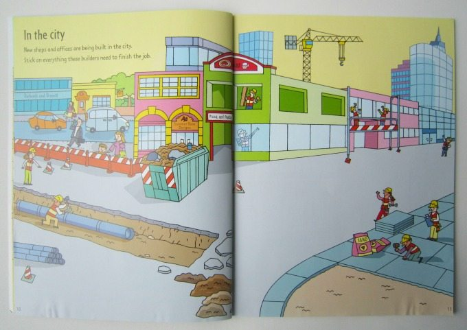 Sticker book about building sites