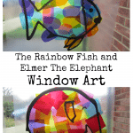 The Rainbow Fish and Elmer The Elephant Window Art