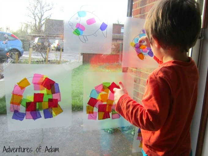 Toddler window art