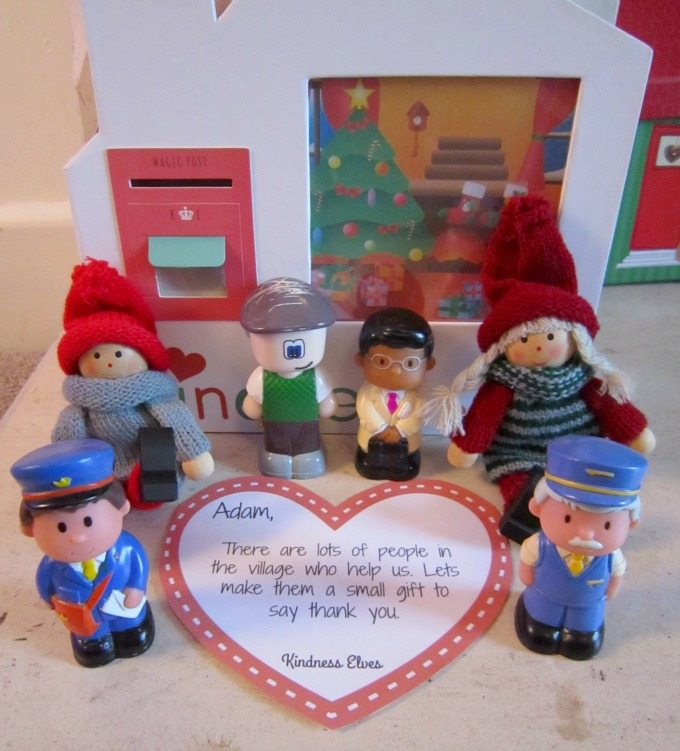 Kindness Elves thanking people in the village who help us