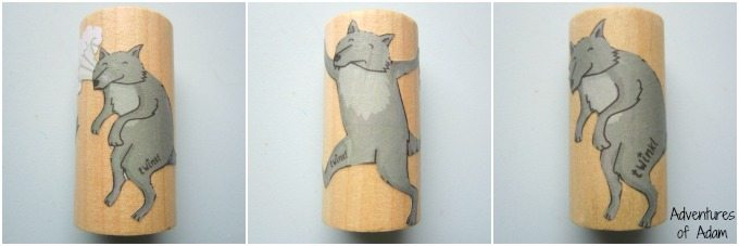 Big bad wolf wooden block