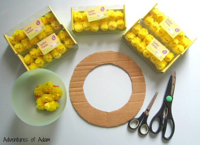 How to make an Easter Chick Wreath
