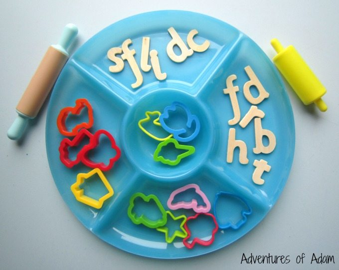 Initial sound play dough set up