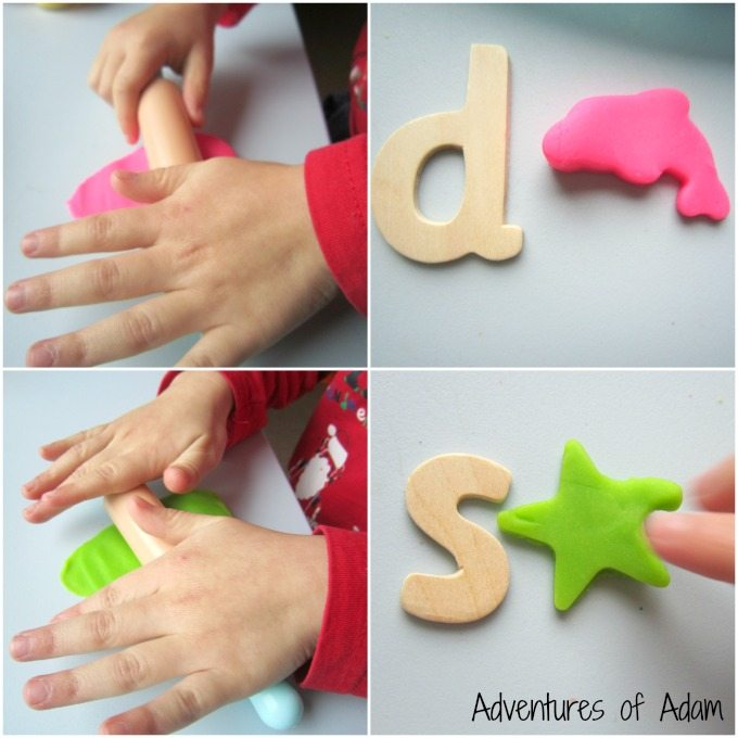 Initial sounds with play dough