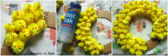 Making an Easter Chick decoration