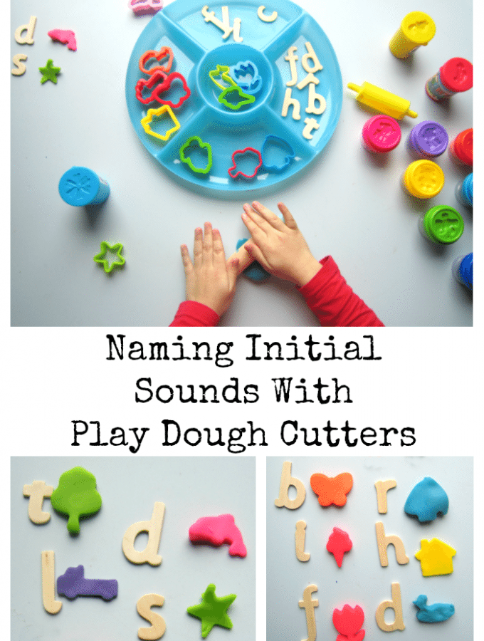 Naming Initial Sounds With Play Dough Cutters