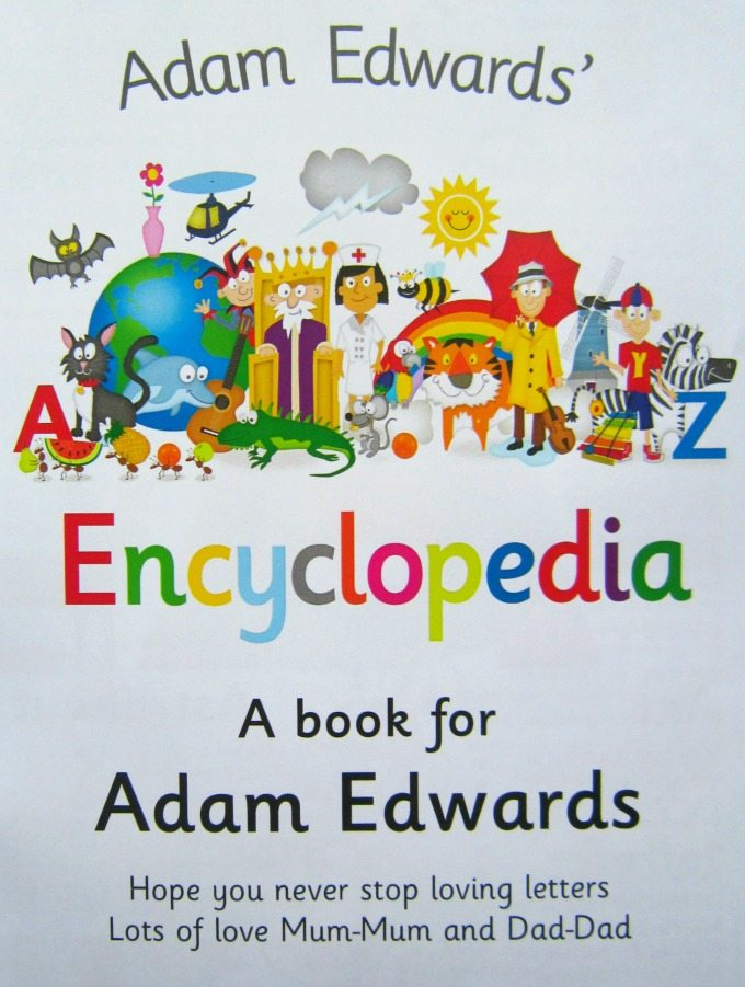 Personalised message in a childs book
