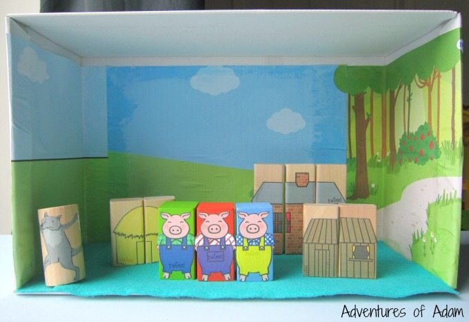 Three Little Pigs storytelling box