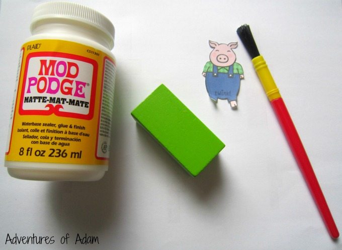 Turning wooden blocks into pigs