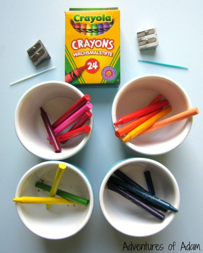 Wax crayon process art