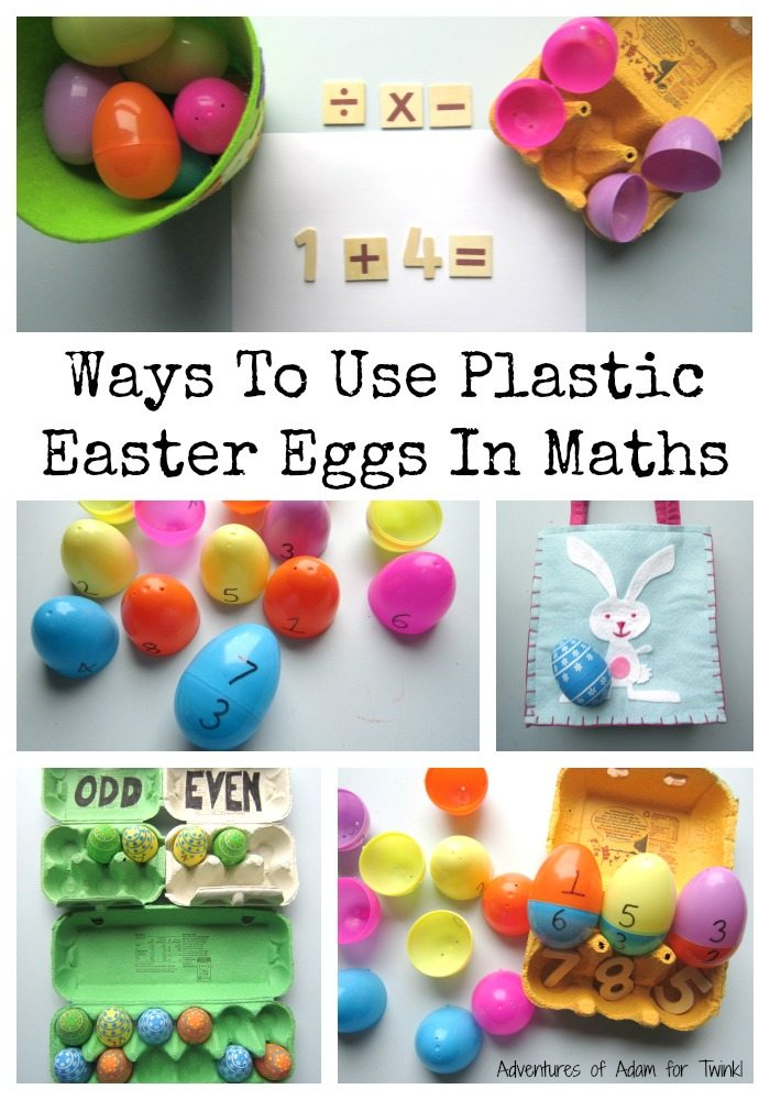 Ways to use plastic Easter Eggs in maths