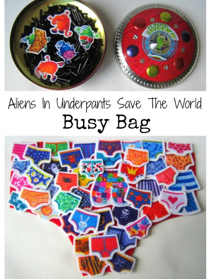 Aliens In Underpants Save The World Busy Bag