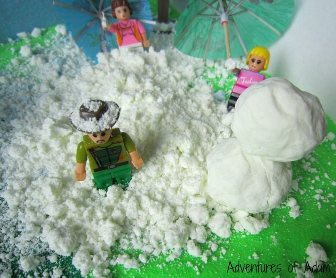 Artificial snow small world