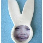 DIY Clay Photo Keepsake Easter Bunny