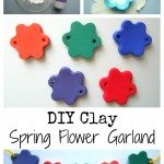 DIY Clay Spring Flower Garland