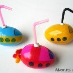 DIY Plastic egg submarines