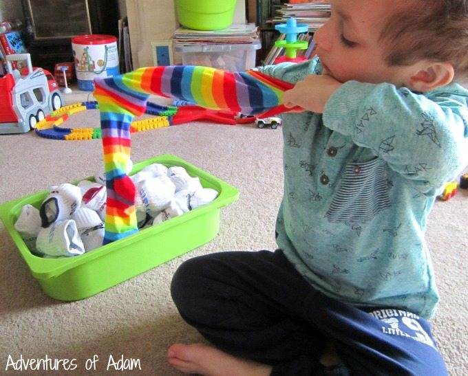 Gross motor play and socks