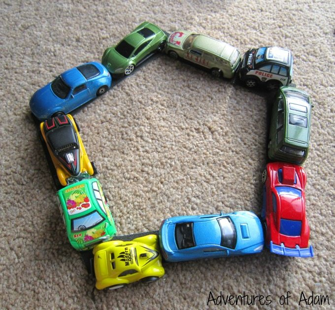 Making shapes with cars