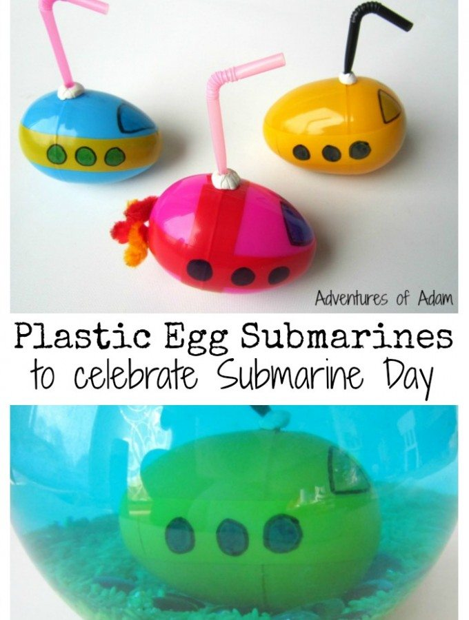 Plastic Egg Submarines