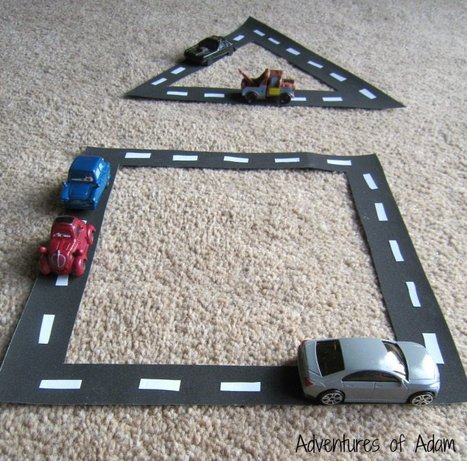 Teaching children about shapes using cars