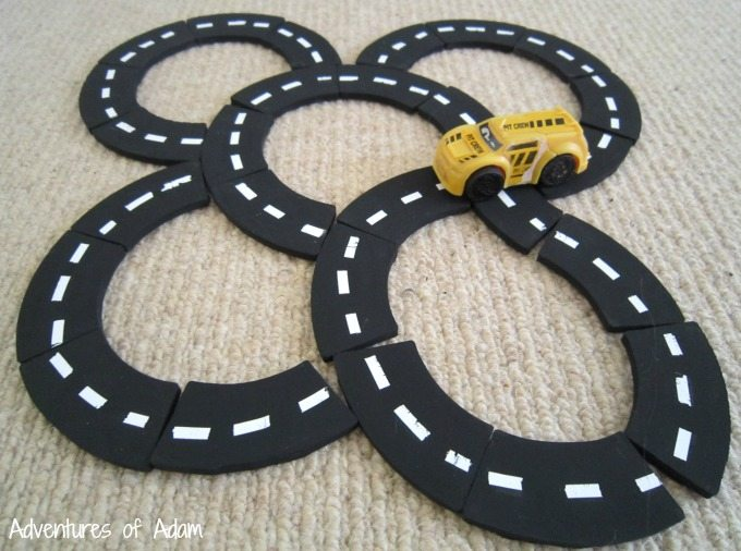 Toddler car track